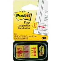 3M™Post-it Tape Flag<BR> (SIGN HERE) #680-9